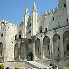 Pope's palace at Avignon, France by chord0