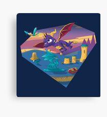 Spyro The Dragon Canvas Print