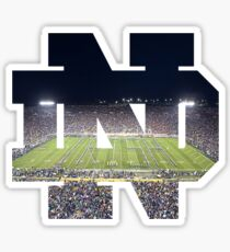 University of Notre Dame Logo (w/ Football Game Background) Sticker
