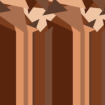 Chocolate Caramel Stripes by Gravityx9
