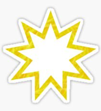 Gold color Baha'i nine pointed star Sticker