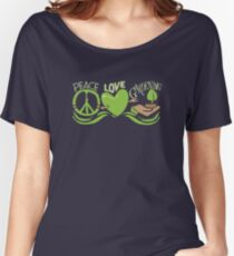 Peace Love Gardening Horticulture Women's Relaxed Fit T-Shirt