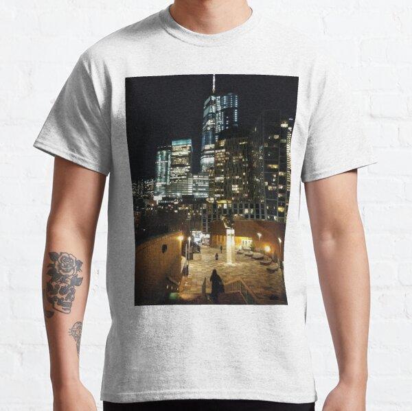 New York, Manhattan, Brooklyn, New York City, architecture, street, building, tree, car, pedestrians, day, night, nightlight, house, condominium,  Classic T-Shirt