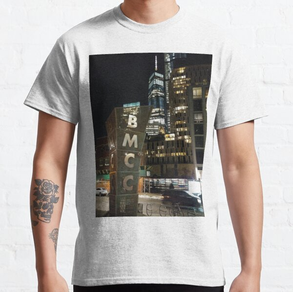 New York, Manhattan, Brooklyn, New York City, architecture, street, building, tree, car, pedestrians, day, night, nightlight, house, condominium,  Classic T-Shirt
