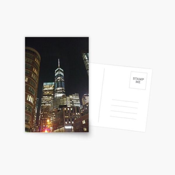 New York, Manhattan, Brooklyn, New York City, architecture, street, building, tree, car, pedestrians, day, night, nightlight, house, condominium,  Postcard