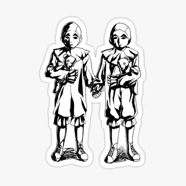 Peculiar Twins Sticker