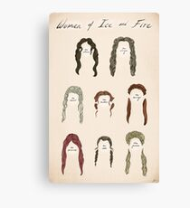 Ladies of Ice and Fire Poster Canvas Print