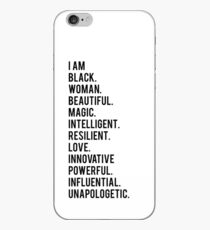 I Am Black Woman   African American   Black Lives iPhone Case