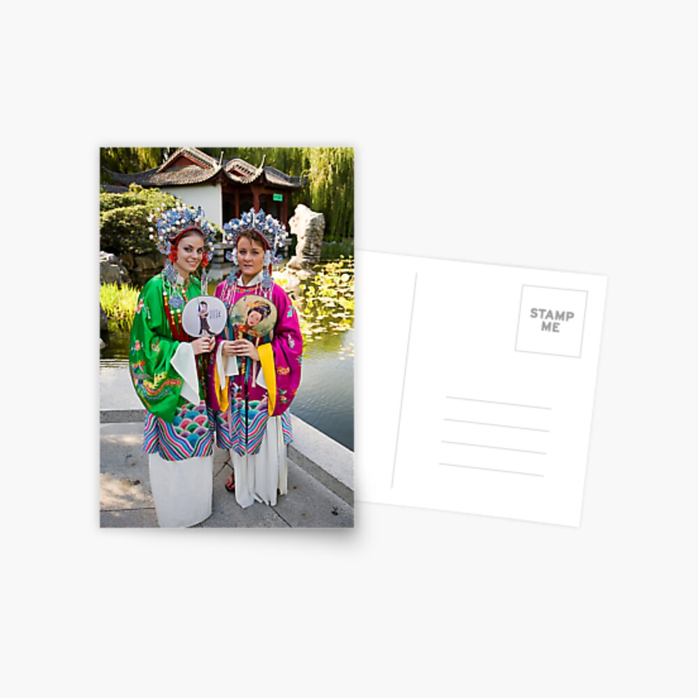 Girls in the Gardens Postcard