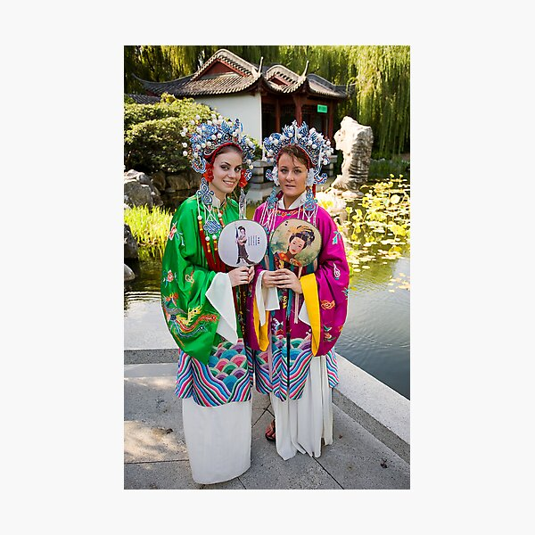 Girls in the Gardens Photographic Print