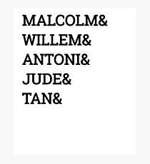 Malcolm& Willem & ANTONI Photographic Print
