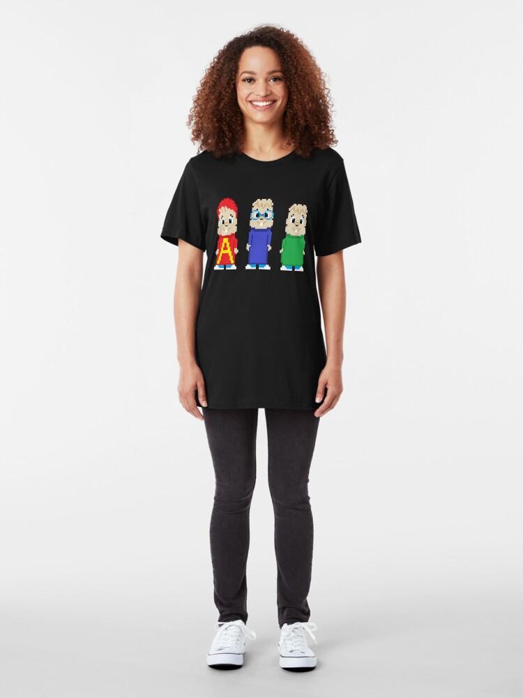 Alternate view of 8-Bit Munks Slim Fit T-Shirt
