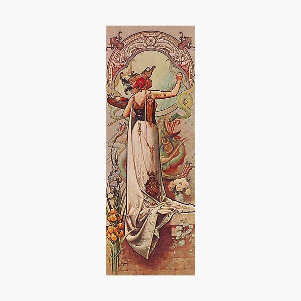 HD. The Painter, Vintage advert , by Louis Hingre . Art Nouveau style beautiful design / 1900 Photographic Print