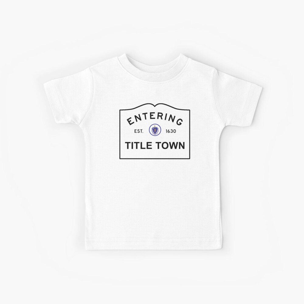 Title Town - Boston, MA Kids T-Shirt