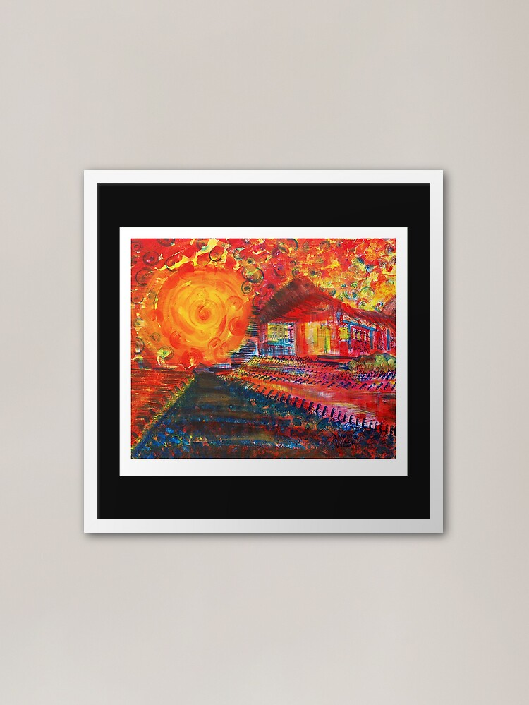 Alternate view of Phire House X Framed Art Print