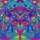 Floral Abstract Background by MEDUSA GraphicART