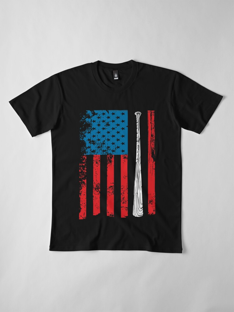 Camisetas premium para hombre «Bandera americana del béisbol ...