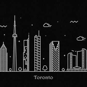 Toronto Skyline Minimal Line Art Poster by geekmywall