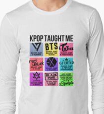 Camiseta de manga larga Kpop Taught Me (3ª generación de grupos ver.)