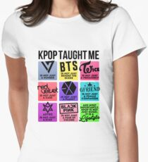 Kpop Taught Me (3rd Gen. Groups Ver.) Women's Fitted T-Shirt