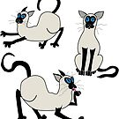 Three Siamese Cats by GroglioArt