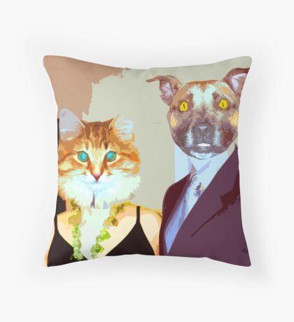 Mr. & Mrs. Dogg Throw Pillow