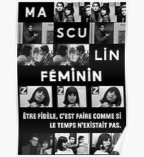 Masculin Féminin (1966 film) Jean Luc Godard Poster