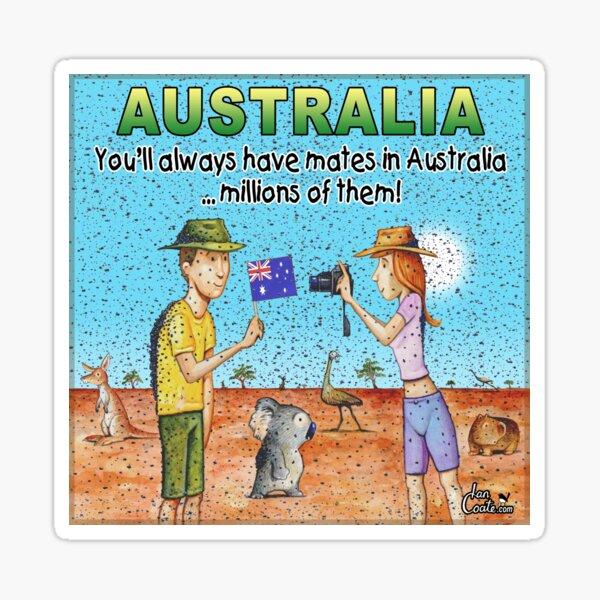 Aussie Moment - Australian Mates and Flies Sticker