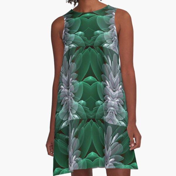 Sea Flower A-Line Dress