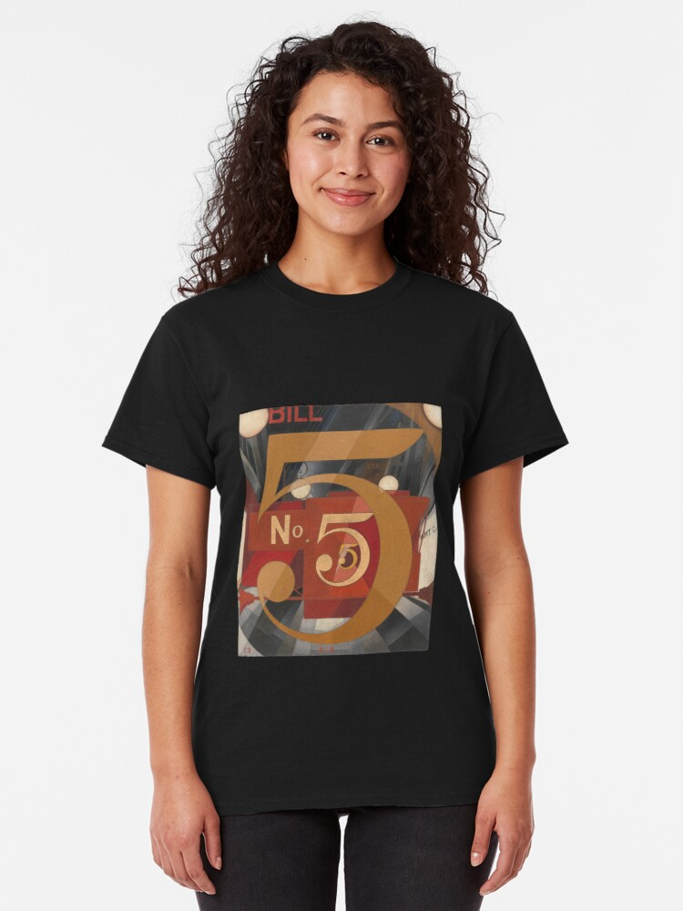Alternate view of I Saw the Figure 5 in Gold - Demuth Classic T-Shirt