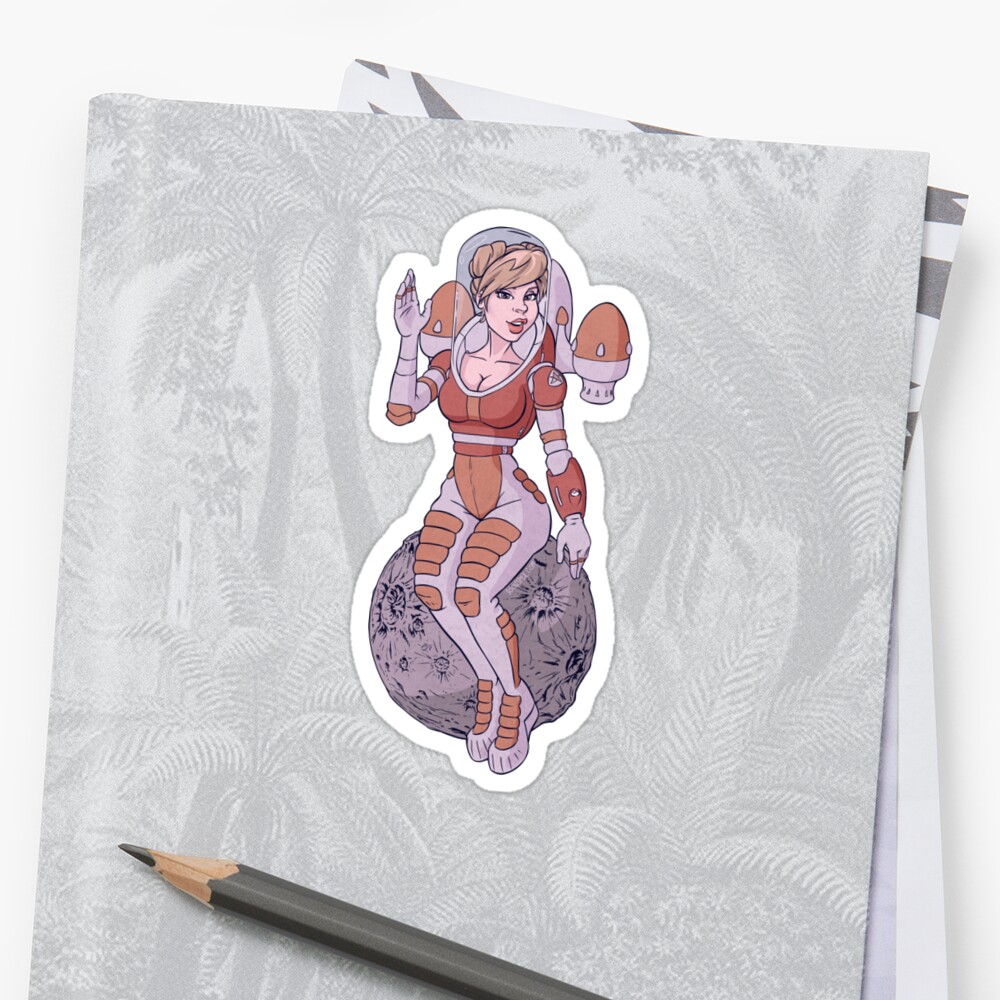 Space gal Sticker
