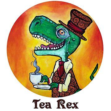 Dapper Tea Rex by ZombieRodent