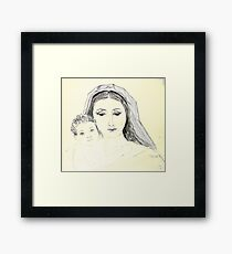 Mary and Jesus Framed Print