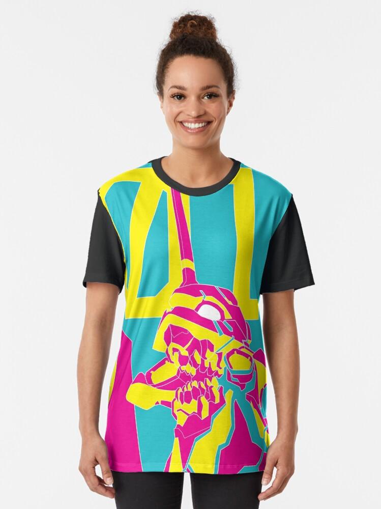 Alternate view of NEON EVA_01 Graphic T-Shirt