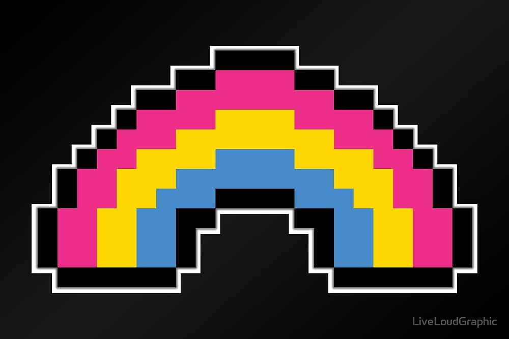 Pansexual Pixel Rainbow by LiveLoudGraphic