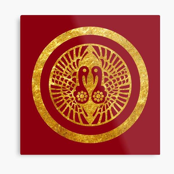 Ikko Ikki Mon Japanese clan in faux gold Metal Print