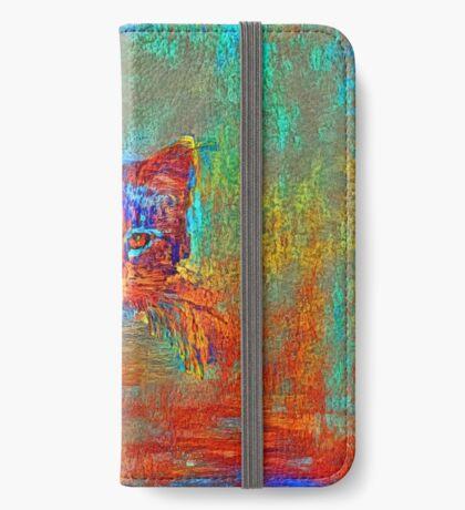 Ninja cat hiding in Modern #Art iPhone Wallet