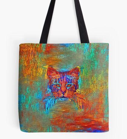 Ninja cat hiding in Modern #Art Tote Bag
