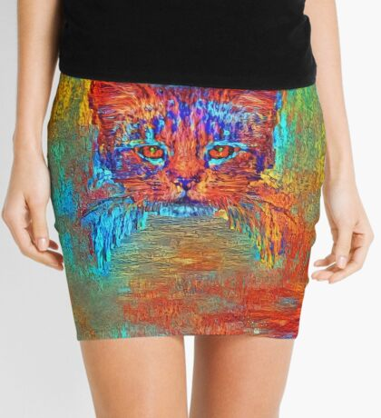 Ninja cat hiding in Modern #Art Mini Skirt
