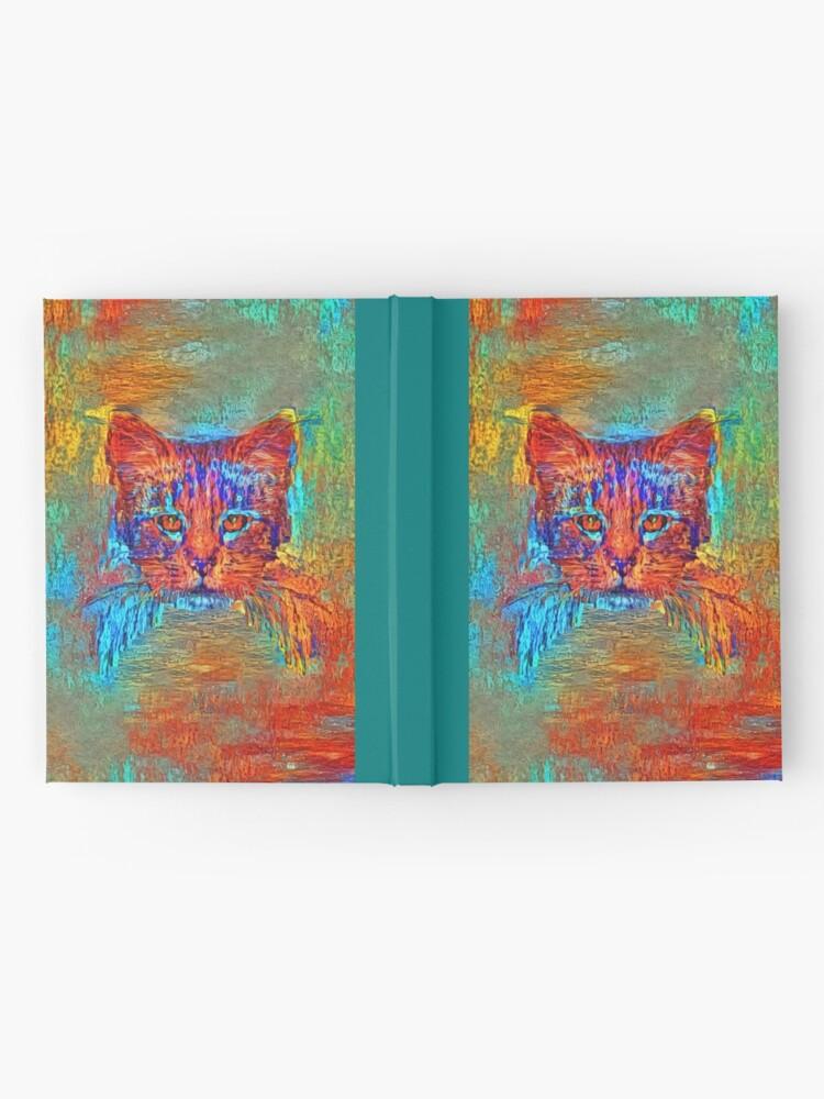 Alternate view of Ninja cat hiding in Modern #Art Hardcover Journal
