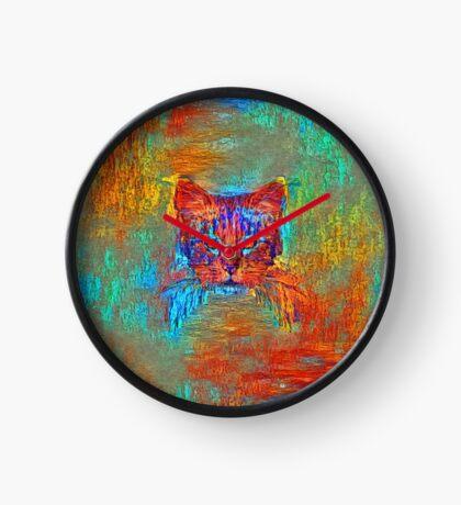 Ninja cat hiding in Modern #Art Clock