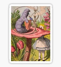 Alice and Absolem Wonderland Sticker