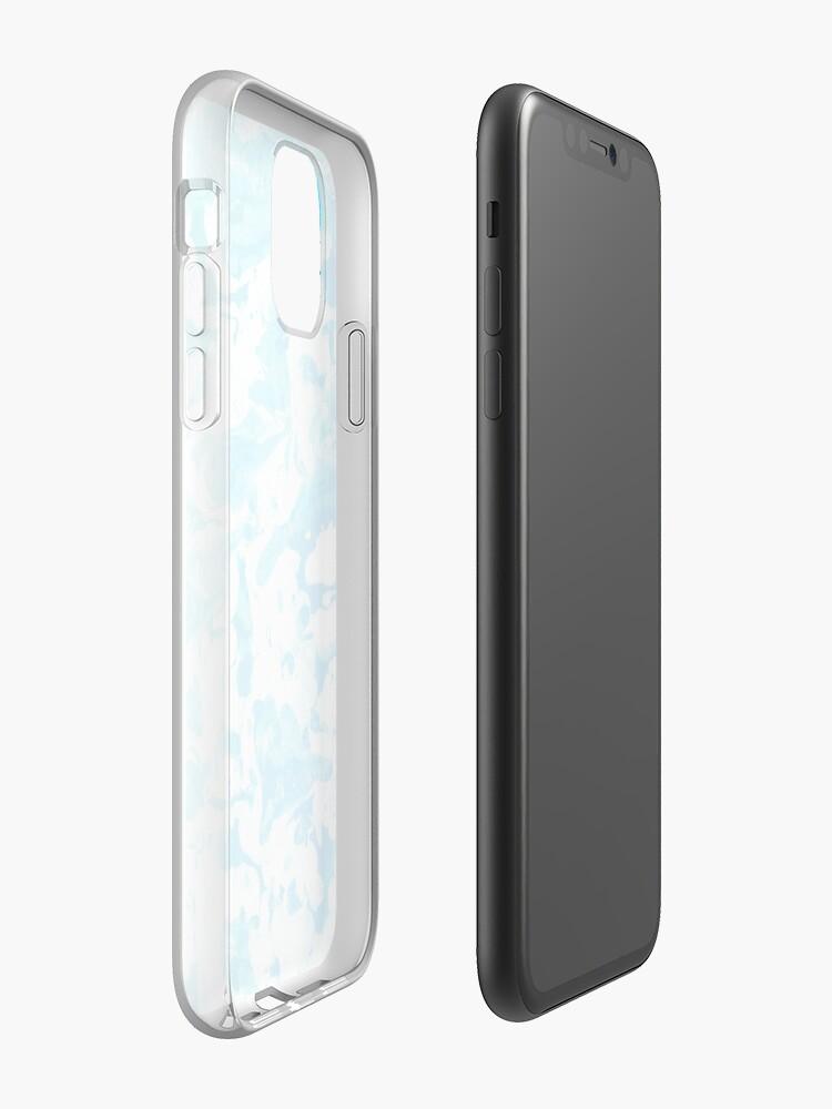Coque iPhone «Conception Trippy Esthétique Bleu», par warddt