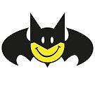 Bat Smiley by gradydraws