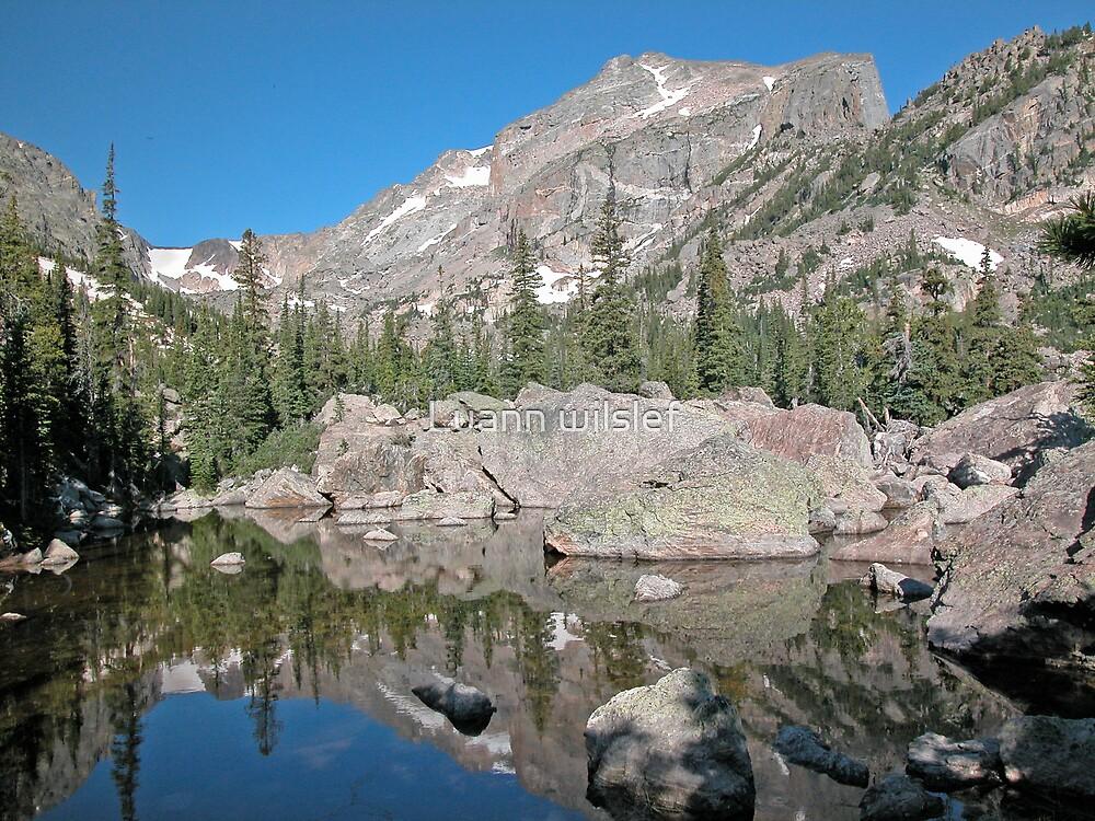 Hallet Peak Rocky Mountain National Park by Luann wilslef