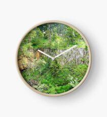 Gully Walls of Trentham Falls. Vic. Australia Clock