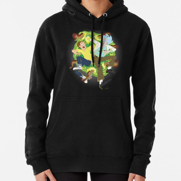 Rick and Morty Print Pullover Hoodie