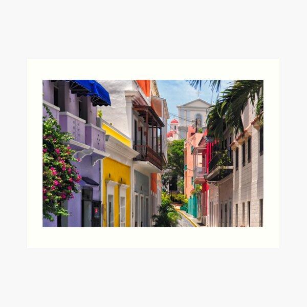 Colorful Streets of Old San Juan, Puerto Rico Art Print