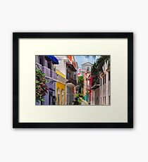Colorful Streets of Old San Juan, Puerto Rico Framed Print