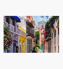 Colorful Streets of Old San Juan, Puerto Rico Photographic Print